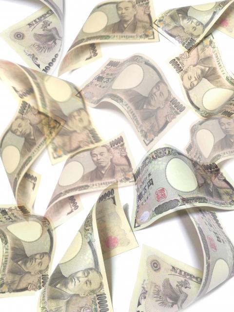 お金が舞うイメージ