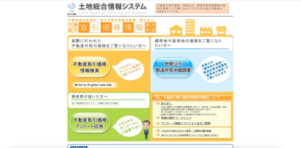 土地総合情報システム画像
